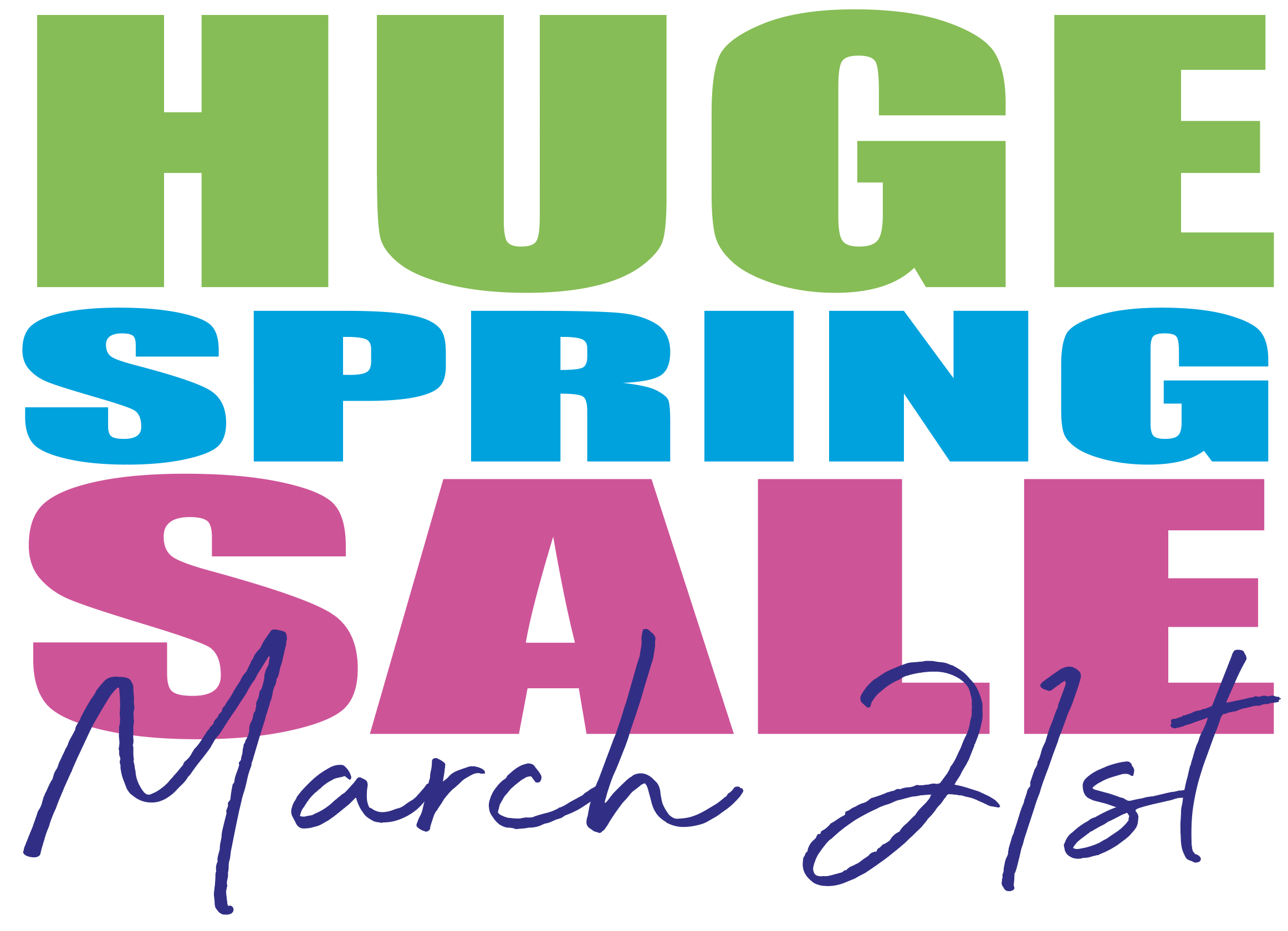 Huge Spring Sale March 21, 2020